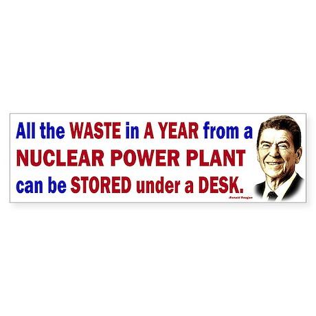 Reagan Quote - Nuclear Power Plant Sticker (Bumper