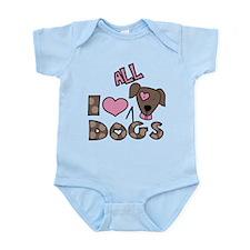 I Love All Dogs Infant Bodysuit