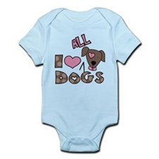 I Love All Dogs Onesie