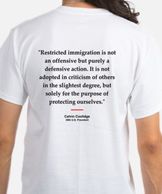 C Coolidge Quote #1<br>T-Shirt (back)