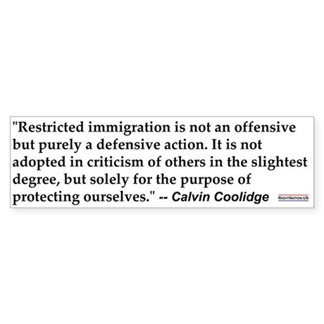 C Coolidge Quote #1<br>Bumper Sticker