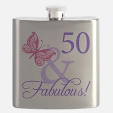 50 And Fabulous Birthday Gifts Flask