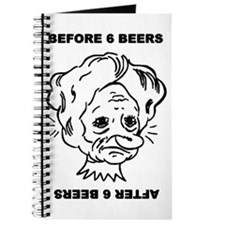 Before and after 6 beers Journal