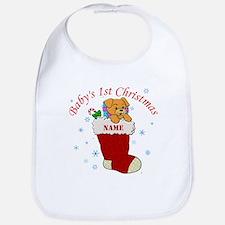 Babys 1st Christmas Bib