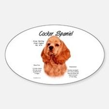 Red Cocker Spaniel Oval Decal