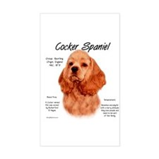 Red Cocker Spaniel Rectangle Decal