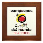 Spain - Baskeball World Champ Framed Tile