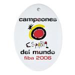 Spain - Baskeball World Champ Oval Ornament