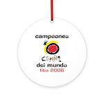 Spain - Baskeball World Champ Ornament (Round)