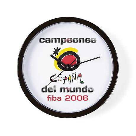 Spain - Baskeball World Champ Wall Clock