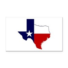 Texas Flag on Texas Outline Rectangle Car Magnet