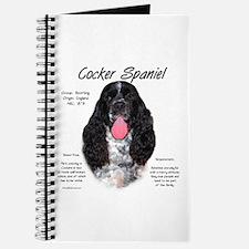 Parti b&w Cocker Spaniel Journal