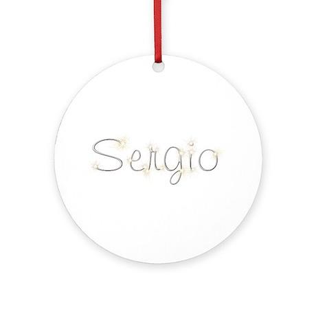Sergio Spark Round Ornament