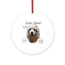 Buff Cocker Spaniel Ornament (Round)