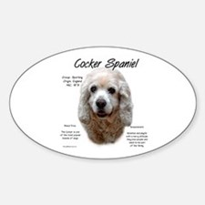 Buff Cocker Spaniel Oval Decal