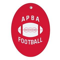APBA Football Ornament (Oval)