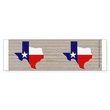 Texas Flag v4 Bumper Sticker
