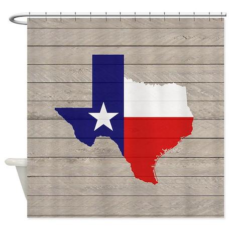 Texas Flag V4 Shower Curtain By Texme