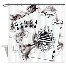 SmokinRoyalFlush.png Shower Curtain