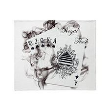 SmokinRoyalFlush.png Throw Blanket