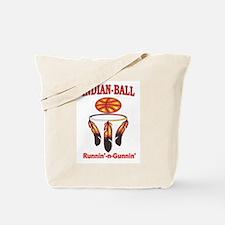 INDIAN-BALL: Runnin'-n-Gunnin' Tote Bag