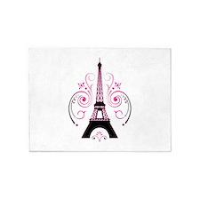Eiffel Tower Gradient Swirl 5'x7'Area Rug