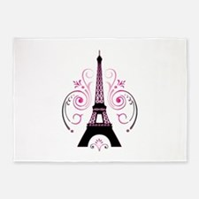 Eiffel Tower Gradient Swirl 5'x7'Area Rug