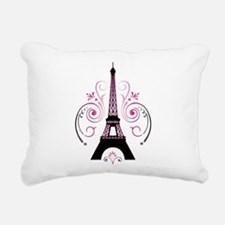 Eiffel Tower Gradient Sw Rectangular Canvas Pillow