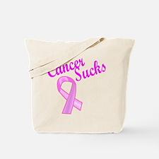 Cancer Sucks Pink Ribbon Tote Bag