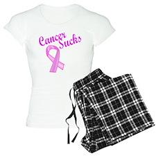 Cancer Sucks Pink Ribbon Pajamas