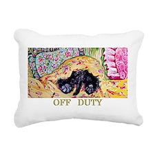 Scottish Terrier Off Rectangular Canvas Pillow