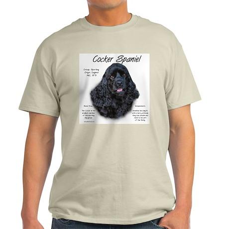 Black Cocker Spaniel Light T-Shirt