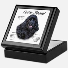Black Cocker Spaniel Keepsake Box