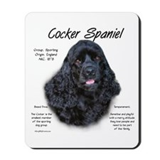 Black Cocker Spaniel Mousepad