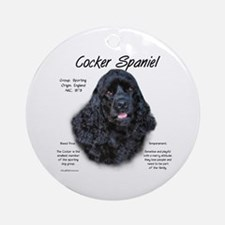 Black Cocker Spaniel Ornament (Round)