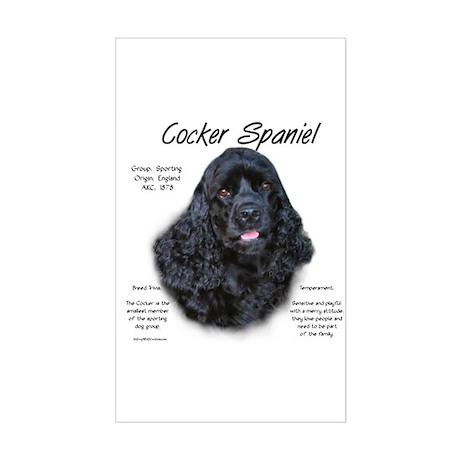 Black Cocker Spaniel Rectangle Sticker
