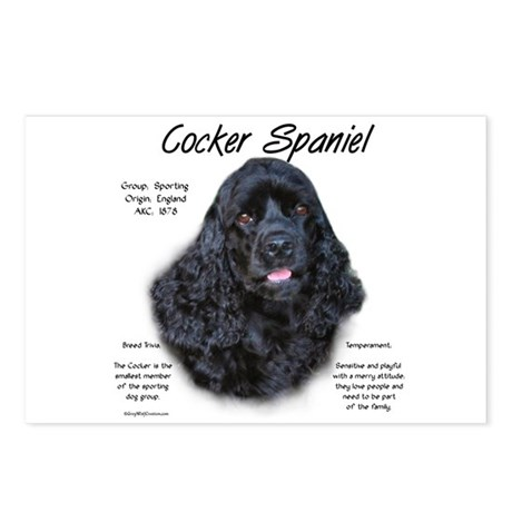 Cocker Spaniel (black) Postcards (Package of 8)
