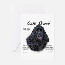 Black Cocker Spaniel Greeting Cards (Pk of 10)