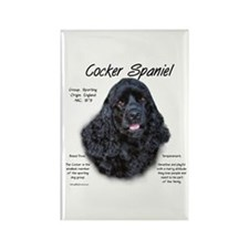 Black Cocker Spaniel Rectangle Magnet