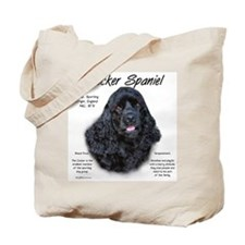 Black Cocker Spaniel Tote Bag