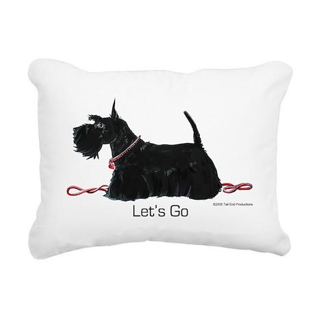 Scottie Let's Go! Rectangular Canvas Pillow