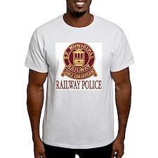 SF Muni Railway Police Ash Grey T-Shirt