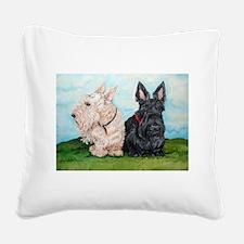 Scottish Terrier Companions Square Canvas Pillow