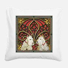 Celtic Wheaten Scotties Square Canvas Pillow