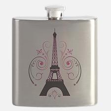 Eiffel Tower Gradient Swirl Flask