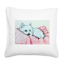 3 Zoe painting .png Square Canvas Pillow