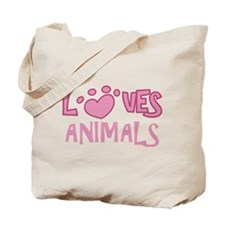 Loves Animals Tote Bag
