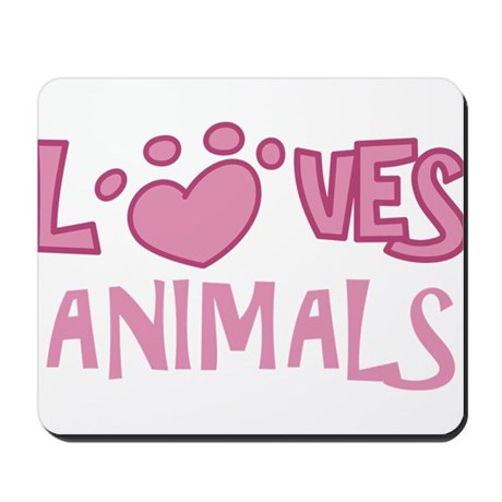 Loves Animals Mousepad