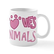 Loves Animals Mug