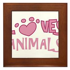 Loves Animals Framed Tile